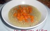 Bouillon au tapioca, carottes, patates douces