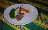 Carré d'agneau à la sauce verte