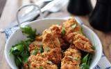 Aiguillettes de poulet en croûtes de cacahuètes et moutarde