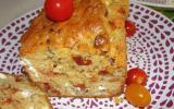 Cake tomate séchées, feta, noisettes