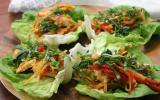 Wrap de laitue au poulet Thaï