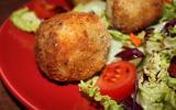 Cromesquis, boules pommes de terre, céleri et bœuf au 4 épices,