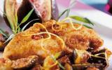 Filets de poulet aux figues poêlées