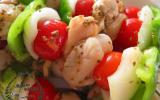 Brochettes de légumes et de noix de Saint-Jacques à l'anis
