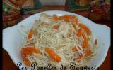 Poulet aux nouilles chinoises et carottes