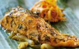 Portion de saumon à l'étouffée