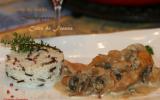 Mijotée de dinde aux champignons et au cidre de France