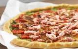 Tarte fine tomates mozza et lardons
