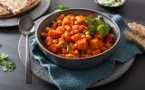 Curry de patates douces et pois chiches