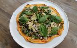 Pizza de patate douce aux légumes