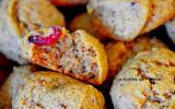 Cookies à la chapelure et cranberries