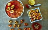 Houmous de fèves et fèves frites