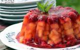 Aspic de melon, framboise et cerise
