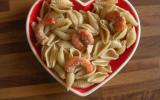 Pâtes aux crevettes sauce vinaigre balsamique