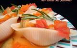 Conchiglioni aux légumes et à l'orange
