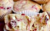 Muffins aux cranberries et chocolat blanc