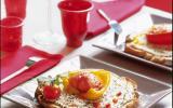 Poivrons confits à la tomate et aux haricots blancs montés à l'ail et à l'huile d'olive