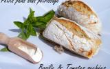 Petits pains sans pétrissage basilic tomates séchées