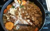 Blanquette de veau aux champignons et carottes