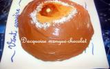 Dacquoise mangue-chocolat