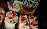 Crostinis d'Etorki, Chavroux fraise basilic