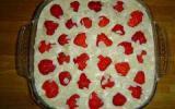 Tiramisù aux fraises et aux amandes