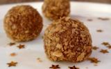 Truffes croustillantes au praliné & crêpes dentelles