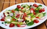 Salade fraîcheur à la feta et mini-poivrons du Pérou
