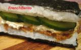 Sandwich de riz concombre miso