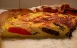 Tarte aux boudin, tomates et mozzarella