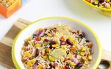 Salade de riz complet à la mexicaine