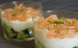 Verrines concombre-saumon rapide