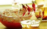 Pop corn aux épices et vodka au poivre et au piment