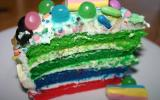 Layer cake technicolor bonbons