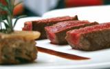 Filet de bœuf de Bazas et gâteau de céleri aux champignons