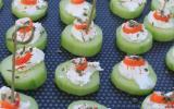 Bouchées concombre surimi