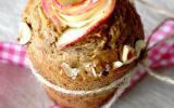 Muffin épicé au thé russe, aux pommes & noisettes