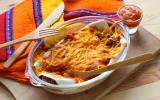 Enchiladas de boeuf et haricots rouges