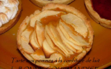 Tarte fine aux pommes et à la confiture de lait