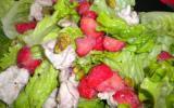 Salade de volaille aux fraises