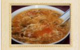 Soupe chinoise aux oeufs et aux tomates