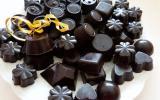 Chocolats fourrés à la ganache aux noisettes