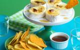Dips de tortillas et fondue de camembert