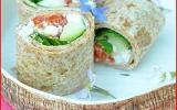 Maki wraps au cottage cheese
