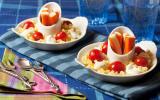 Salade de coquillettes en risotto aux mini bâtonnets Petits Coraya