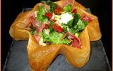 Salade italienne dans sa feuille de brick