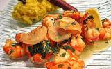 Crevettes au gingembre et citron vert