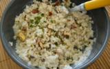 Salade de boulgour au fromage blanc, noisettes et cumin