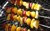 Brochettes briochees de nectarines