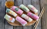 Rouleaux de printemps végétariens multicolores